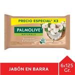 Jabón En Barra PALMOLIVE Naturals Coco Y Algodón 125g Pack 3 Unid