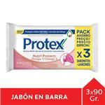 Jabón En Barra PROTEX Omega 3 90g Pack 3 Unid