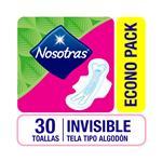 Toalla Femenina Nosotras Invisible Tela  Tipo Algodón X30