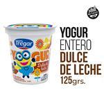 Yogur Entero TREGAR Dulce De Leche Cremoso 125 Gr