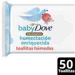 Toallitas Húmedas Baby Dove Humectación Enriquecida 50 Unidades