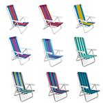 Silla De Playa Aluminio Reclinable MOR 54 Cm Varios Colores