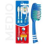Cepillo Dental Colgate Extra Clean Medio 3unid