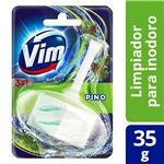 Canasta Sólida Para Inodoro Vim 3 En 1 Pino 35 G