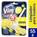 Canasta Sólida Para Inodoro Vim Poder X5 Citrus 55 G