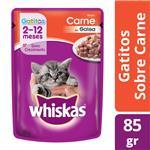 Alimento En Sobres Cachorros WHISKAS 85 Gr Carne