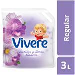 Suavizante Para Ropa Vivere Regular Violetas Y Flores Blancas 3 Lt