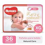 "Pañal ""Xg"" HUGGIES Natural Care ""12 A 15 Kg"" 36 Uni"