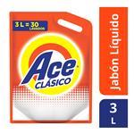 Jabón Liquido ACE Acción Instantánea Doypack 3 L