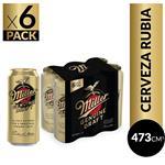 Cerveza  MILLER   Pack Latas 473 Cc 6 Unidades