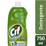 Detergente Concentrado Cif Active Gel Limón Verde 750 Ml