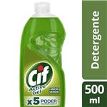 Detergente CIF ACTIVE GEL Limón Verde   Botella 500 Ml