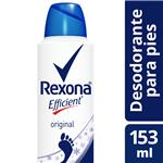 Desodorante Aerosol Para Pies REXONA Efficient 153 Ml