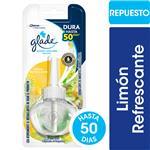 Aromatizante De Ambientes GLADE Aceites Naturales Limón Refrescante Repuesto 21ml
