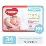 Pañal HUGGIES Natural Care Rnx34