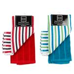 Setx2 Repasador Yarn Dyed Stripes 40x60 . . .