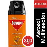 Insecticida Casa Y Jardín Multinsectos BAYGON En Aerosol 300cc