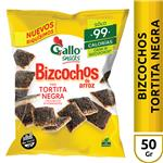 Arroz Tortita Negra Gallo Snack Paq 50 Grm