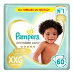 "Pañales PAMPERS Premium Care ""XXG"" 60 Unidades"