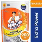 Limpiador De Cocina MR. MÚSCULO Líquido Extra Power Limón Repuesto 900ml