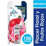 Aromatizante De Ambientes GLADE Toque Placer Floral Y Frutos Rojos Repuesto 9gr