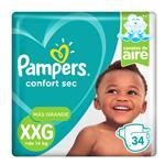"Pañales  PAMPERS Confort Sec   ""XXG"" 34 Unidades"