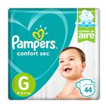 """Pañales  PAMPERS Confort Sec   """"G"""" 44 Unidades"""