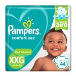 "Pañales PAMPERS Confort Sec ""XXG"" 44 Unidades"