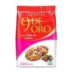 Cookies Chips De Color 9 De Oro Paq 180 Grm
