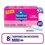 Tampones Mini Sin Aplic Nosotras Cja 8 Uni
