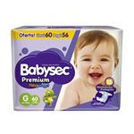 Pañal Premium Flexip Babysec Paq 60 Uni