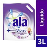 Jabón Líquido Ala Matic Con Toque De Vivere Violetas Y Flores Blancas 3 L