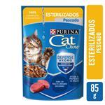 Alimento En Sobres  PURINA CAT CHOW 85 Gr Pescado Esterilizados