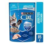 Alimento En Sobres Adultos PURINA CAT CHOW 85 Gr Pescado