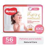 "Pañal ""Xxg"" HUGGIES Natural Care ""Más De 14 Kg"" 56 Uni"