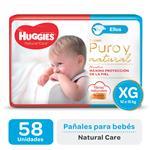 "Pañal ""Xg"" HUGGIES Natural Care ""12 A 15 Kg"" 58 Uni"