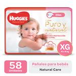 "Pañal ""Xg"" HUGGIES Natural Care ""12 A 15 Kg"" 58 Uni"