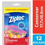 Bolsas Herméticas ZIPLOC Para Conservar Medianas 12un