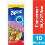 Bolsas Herméticas ZIPLOC Para Conservar Grande 10un