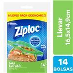 Bolsas Herméticas ZIPLOC Para Llevar Chica 14un