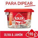 Queso Untable ADLER Pic-A-Dip Oliva Y Jamón 190 Gr