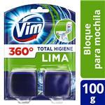 Bloque De Mochila Para Inodoro Vim Total Higiene Lima 100 G