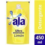 Detergente ALA Ultra Desengrase Limón Recarga 450 Ml