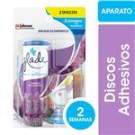 Disco Adhesivo Inodoro GLADE Lavanda Aplicador + Repuesto 14.5gr