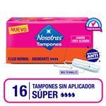 Tampones Super Sin Apli Nosotras Cja 16 Uni