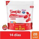 Pastillas De Goma Vitalidad Sab. Simple Doy 112 Grm