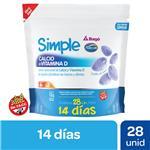 Pastillas De Goma Calcio Y Vitam Simple Doy 132 Grm