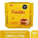 Tostadas Clásicas Criollitas Paq 195 Grm