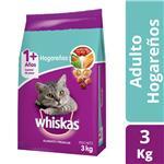 Alimento Adultos Whiskas 3 Kg  Hogareños