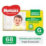 Pañal Triple Protecc Huggies Paq 68 Uni